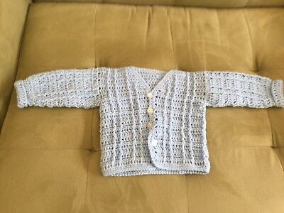 New Hand Knitted Boys Baby Sweater Hand Made