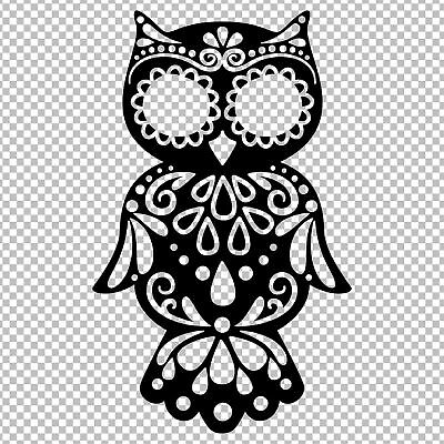 Owl Sugar Skull Day Of The Dead Animal Yeti Vinyl Decal Sticker Tumbler Car
