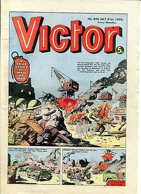 VICTOR Comic 31 July 1976 WW2 King's Own Scottish Borderers Cover Xmas Present