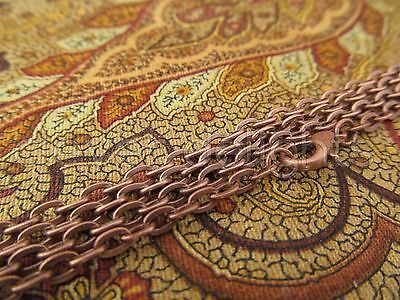 """50 Antique Copper Necklaces - 24 Inch Rolo Chain - Jewelry Findings Crafts 24"""""""