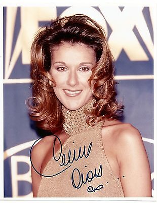 CELINE DION  SIGNED AUTOGRAPHED 8x10 PHOTO