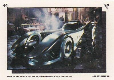 Collector Card; 1989' DC: Batman Sticker Card #44 ...Topps company