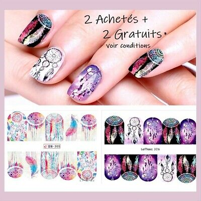 ❤️Nouveau Stickers Dream Catcher Bijoux Ongles Water Decals Nail Art Manucure