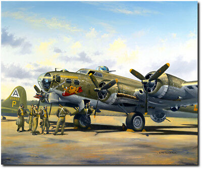 Chowhound by David Poole - B-17 Flying Fortress - Aviation Art Print