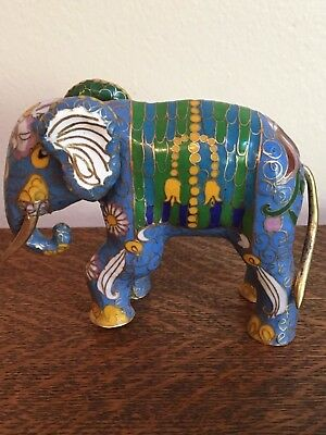 Fine Vintage House Of Faberge Imperial Palace Cloisonne Royal Elephant Figurine