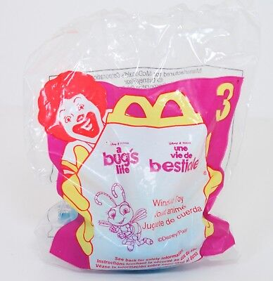 Disney BUGS LIFE toy!  McDonalds 1998, #3 DOT, NEW in Package MIP