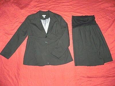 Motherhood Maternity Black Work Skirt Suit Medium M