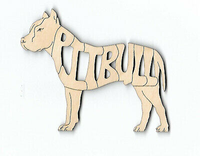 Pit Bull Terrier copped ears Dog laser cut and engraved wood Magnet