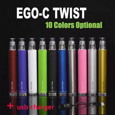New eGo Type C TWIST  Variable Voltage Bud Touch O Pen pen kit + USB Charger