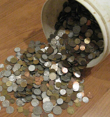 30 Pounds of World Coins. Old, New, Big, and Small. Lots of 1800's Coins.