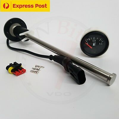 Fuel Sender - 300mm Reed Switch 10-180 Ohms + FUEL GAUGE BRAND NEW...!