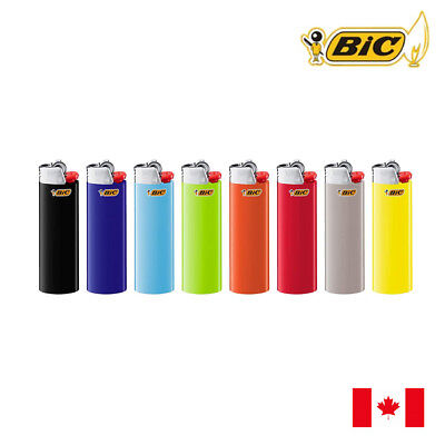 8 BIC Classic Full Size Assorted Colour Lighter
