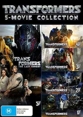 Transformers: 5-Movie Collection (Transformers/Revenge of the Fallen/Dark of the