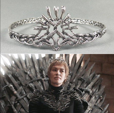 US! Game of Throne Cersei Crown Tiara Women Girls Gifts Halloween Cosplay Props
