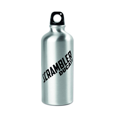 Genuine Ducati Scrambler Milestone Flask Raw Aluminium Drink Bottle 600ml
