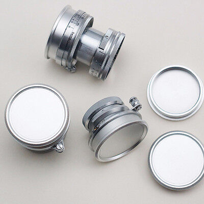 Rear Lens + Body Cap Cover Screw Mount for Leica M39 Metal Silver  New.