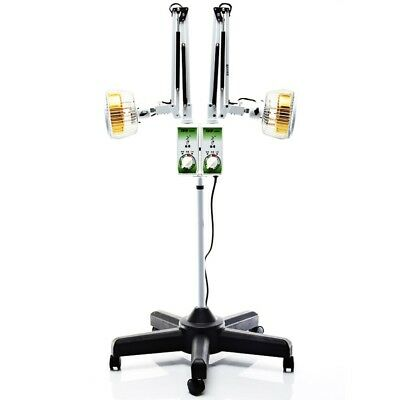TDP Lamp Floor Standing Infrared Heat Adjustable Two Head Double System New.
