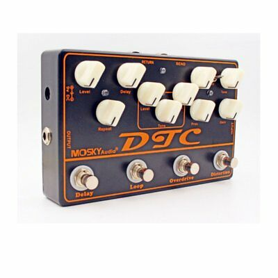 Mosky DTC Multi- Effects 4 in 1 Guitar pedal Distortion Overdrive  LOOP Delay