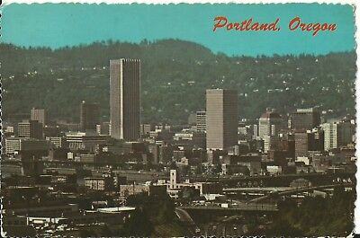 "Vintage Postcard - Downtown Portland Oregon 1976 - 6"" x 4"""