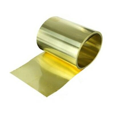 1pc New 0.03mm × 100mm x 1000mm Brass Metal Thin Sheet Foil Freeship