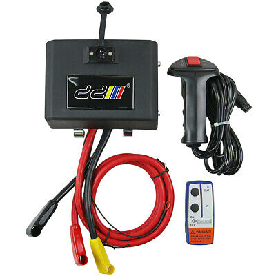 DD New Electric Winch Solenoid Control box relay Wireless Remote 8500-15000lbs