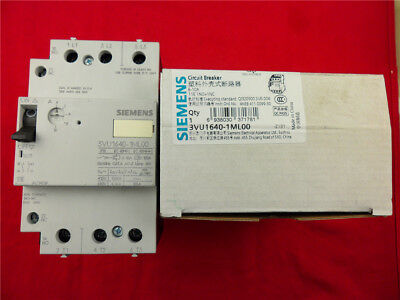1Pcs New Siemens Molded Case Circuit Breaker 3VU1640-1ML00 6-10A