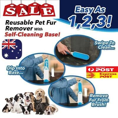 2 in 1 Brush Cleaner Pets Fur Wizard Hair Lint Remover Magic Clear Clothes