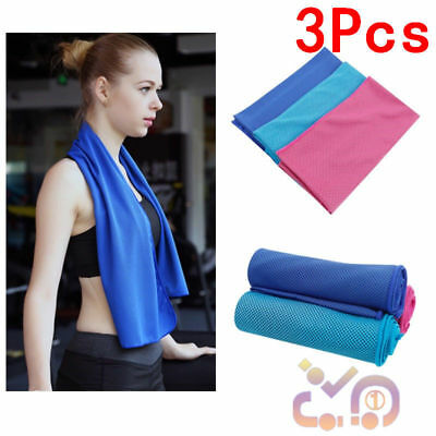 3x Instant Cooling Soft Towel Cold Golf Cycling Jogging Gym Sports Outdoor TOWEL