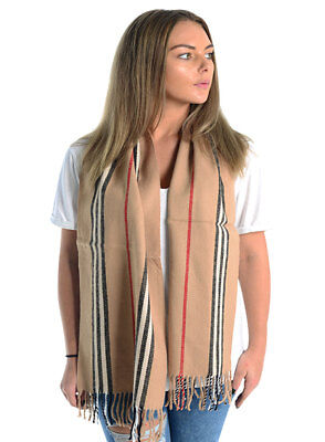 Ladies Upstyle Cozy Winter Warm Scarf Checked Tartan & Stripes Patterns Scarves