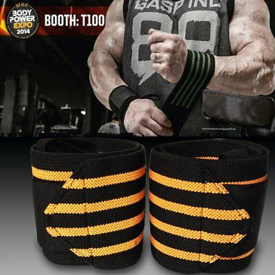 Power Weight Lifting Wrist Wraps Supports Gym Training Fist Straps