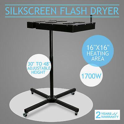 New Flash Dryer Silkscreen T shirt Printing Curing Adjustable Height 16''x16''