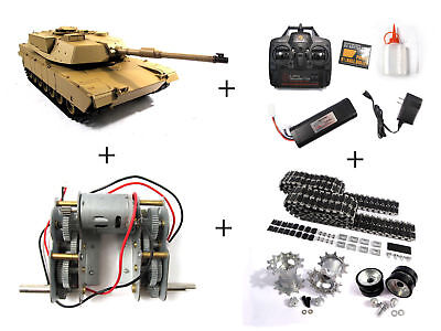 NEWEST 2.4G Henglong 1:16 R/C S&S American M1A2 Abrams Tank with Metal Upgrades