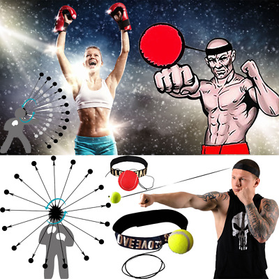 UK 1PC BOXING FIGHT BALL WITH HEAD BAND For REFLEX SPEED TRAINING PUNCH EXERCISE