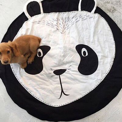 Kids Baby Soft Cotton Play Game Mat Rug Panda Carpet Baby Crawling Blanket