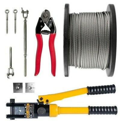 Stainless Balustrade Kit Rope Marine G316  DIY Hydraulic Swager 1 x 19 Wire