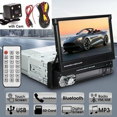 """Car 9601G 7""""HD Touch Screen Single 1DIN MP5 Bluetooth Player With Camera EK"""