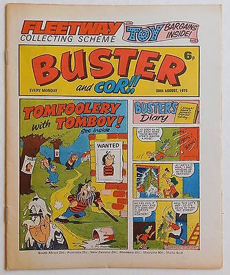 BUSTER and COR Comic - 30th August 1975