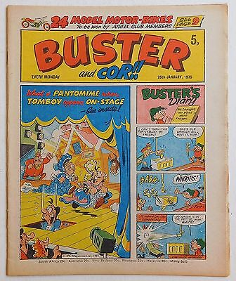BUSTER and COR Comic - 25th January 1975