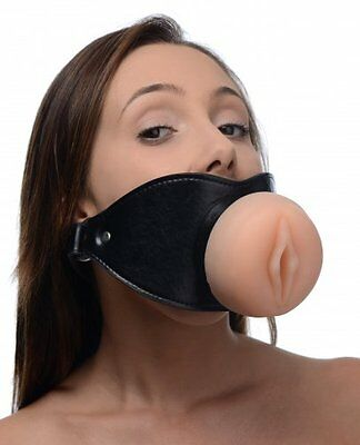 Pussy Face Oral Sex Mouth Bondage Gag Genuine Master Series + Cream Gift