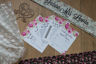Hen Party Pack of Different 5 Games Fun Idea Bride Night Do Accessories Classy