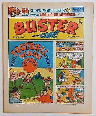 BUSTER and COR Comic - 28th June 1975