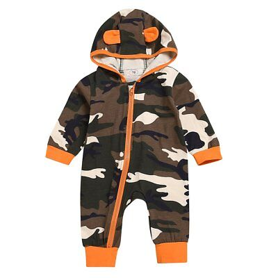 Toddler Baby Kids Boys Girls Infant Camouflage Romper Jumpsuit Bodysuit Outfits