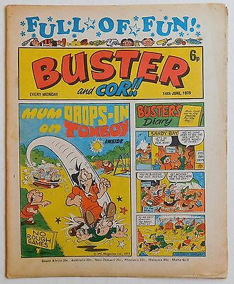 BUSTER and COR Comic - 14th June 1975