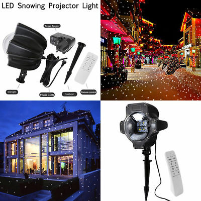 LED Laser Lights Snowing Projector Party Christmas Decor Landscape Outdoor