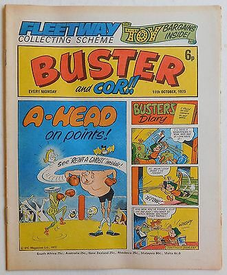 BUSTER and COR Comic - 11th October 1975