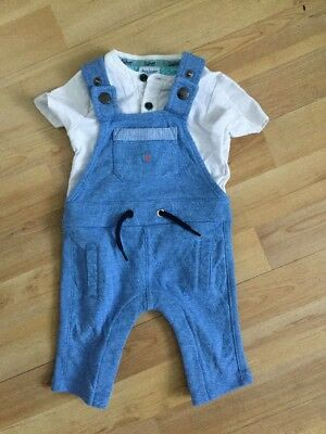 Ted Baker Baby Boys Soft Dungarees Outfit  0-3 Months