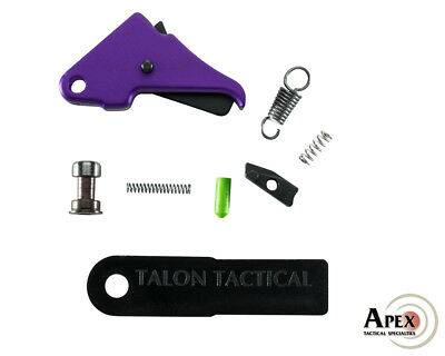Apex Tactical S&W Shield Duty/Carry Flat-Faced Trigger Kit - Purple
