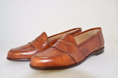 MAN-8eu-9usa-LOW VAMP LOAFER-RADICA BROWN LEATHER-LEATHER SOLE