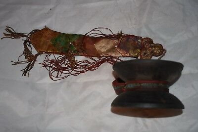 """orig $499-NEPAL SHAMANS DRUM EARLY 1900S 15"""""""