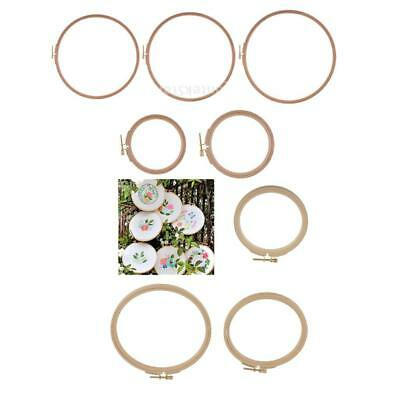 Wooden Embroidery Hoop Wood Cross Stitch Round Adjustable Ring Frame 7.5 to 28cm